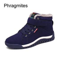 Phragmites winter cotton shoes casual warm high upper winter shoes hot sale boots men outdoor snow boots plus size male footwear