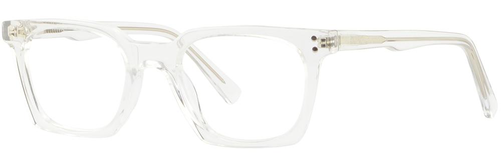 85e326b70a Small Narrow Boys Girls Womens Clear Acetate Frames Square Glasses ...