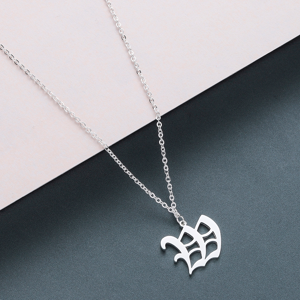 Todorova Old English Custom Capital Initial A-Z Letter Pendant Necklace Men Vintage Font Personalized Necklace Women Jewelry 68