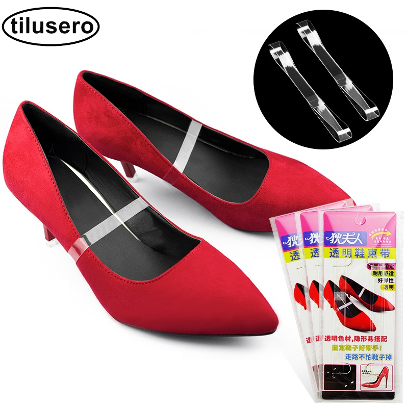1 Pair Shoe Strings Transparent Invisible Women High Heels TPU Band Ankle Straps F0751 Pair Shoe Strings Transparent Invisible Women High Heels TPU Band Ankle Straps F075