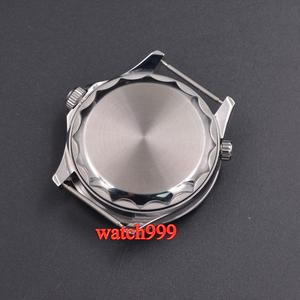 Image 3 - 41mm BLIGER שעון גברים סטרילי חיוג זוהר קרמיקה לוח מוצקה 316L מקרה ספיר קריסטל ניילון רצועה אוטומטי גברים של שעון