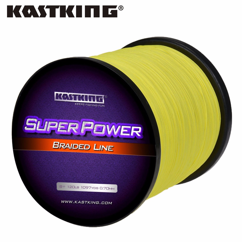 KastKing Brand Fishing Line 1000M 8 Stands PE Multifilament Line 65,80,100,120,150LB Cap Fishing Line Strong Pull Braid Fishing fighter brand 100m multifilament pe braided fishing line 4 stands 8 60lb fishing line