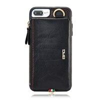 Coque de Lujo Casos Cartera de Cuero Genuino Para el iphone de Apple 6 Más 6 S Bolso Del Teléfono Funda Para el iphone 7 Plus Teléfono Celular Móvil caliente