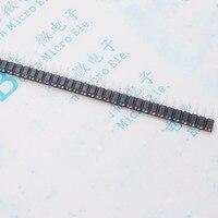 Linha buraco redondo feminino 1*40 p 18 b20 único buraco redondo 2.54mm/tomada de cristais
