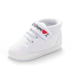 Милые в форме сердца Я люблю маму и папу Прекрасный Обувь для младенцев девочек мягкая подошва обувь новорожденных Обувь 0- 18 м