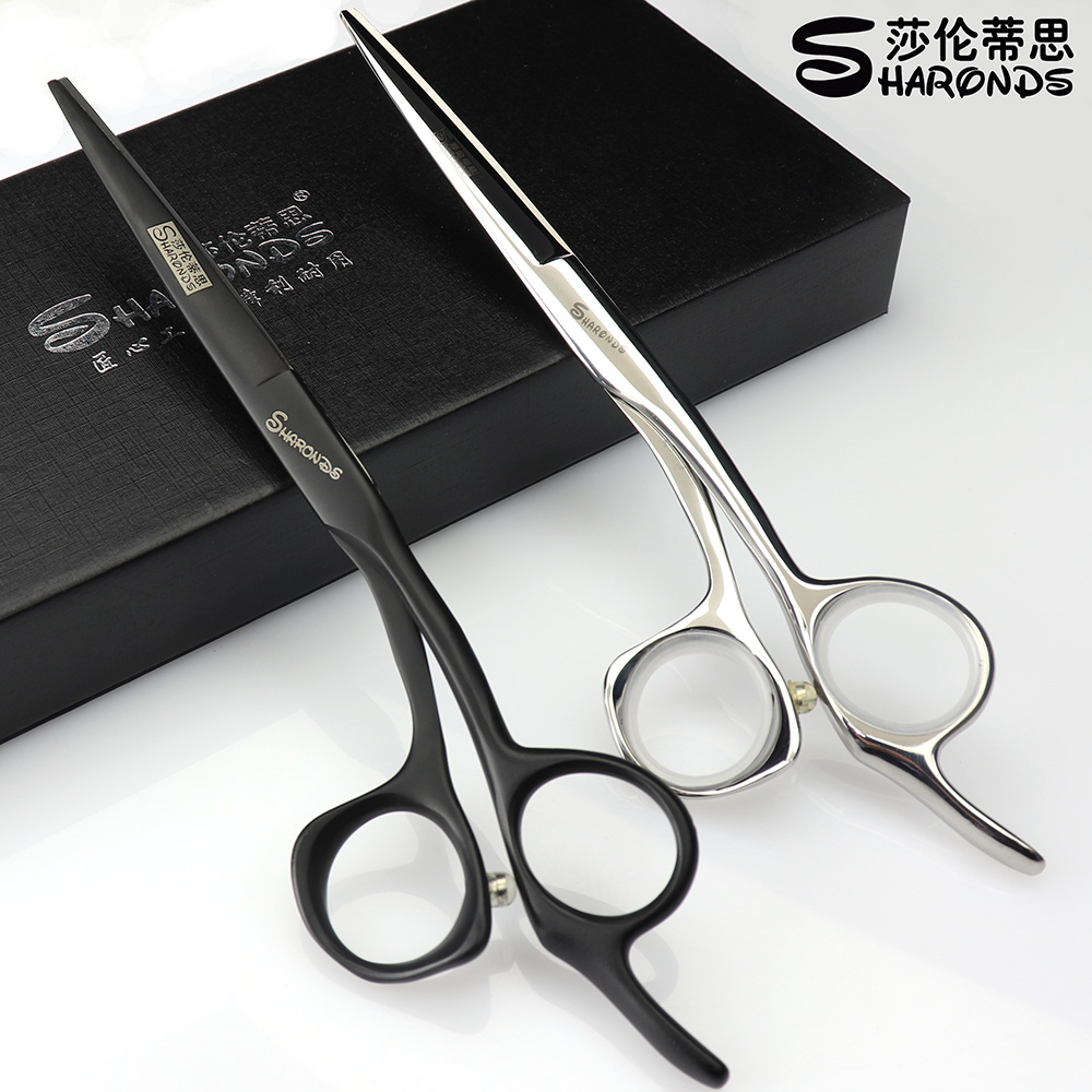 Black Silver High Hardness Japan 440c Steel 5.5/6/6.5 Inch Cutting Scissors Professional Hairdresser Scissors Hair Scissors durable stainless steel scissors red black silver