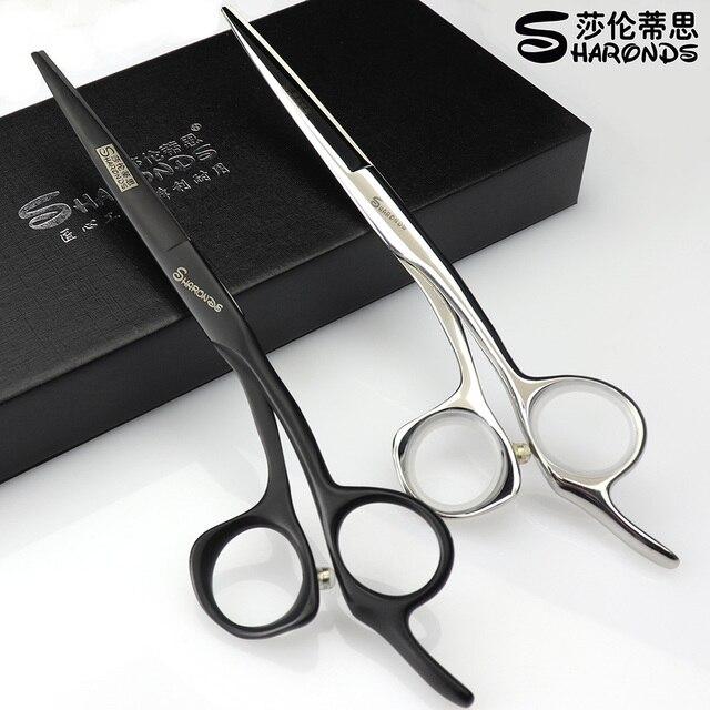 Tijeras profesionales de corte para peluquería, de acero japonés 440c, de 5,5/6/6, 5 pulgadas, color negro y plateado