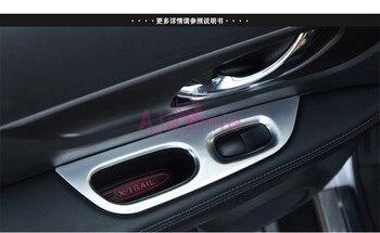 Okno wewnętrzne szkła osłona przycisku wykończenia nakładki ramki panelu 2014-2017 chrom samochód stylizacji dla Nissan x-trail akcesoria