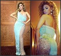 New Bling Myriam fares Evening Dresses With Tasseles Crystals Sheath See Through Sexy Pageant Party Gowns Celebrity Dresses i78