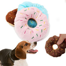 Sightly Pet Chew Cotton Donut Play Toys Lovely Pet Dog Puppy Cat Tugging Chew Squeaker Quack Sound Toy Chew Donut Play Toys(China)