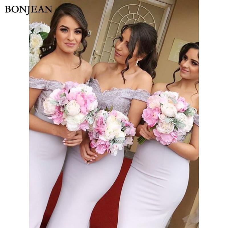 Simple   Bridesmaid     Dress   Off Shoulder Formal   Dress   Chiffion Mermaid Sleeveless Long   Bridesmaid     Dresses   Plus Size Custom Made