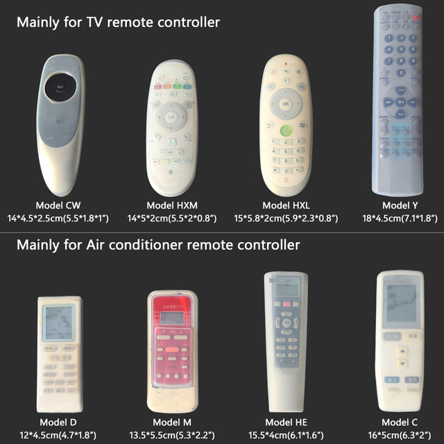 14 Sizes Silicone TV Remote Control Case Cover Video TV Set-top Box Air Condition Dust Protect Storage Bag Anti-dust Waterproof
