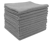"""Sinland 12PCS 12""""x12"""" Super Absorbent Microfiber Kitchen Towels Micro Fiber Cleaning Cloths Wiping Dust Rugs Manufacturer Grey"""