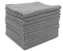 Sinland 12PCS 12x12 Super Absorbent Microfiber Kitchen Towels Micro Fiber Cleaning Cloths Wiping Dust Rugs Manufacturer Grey