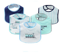 Baby Boy Baby Girls Bibs Cotton And Peva Bandana 5pcs Set Waterproof Bibs