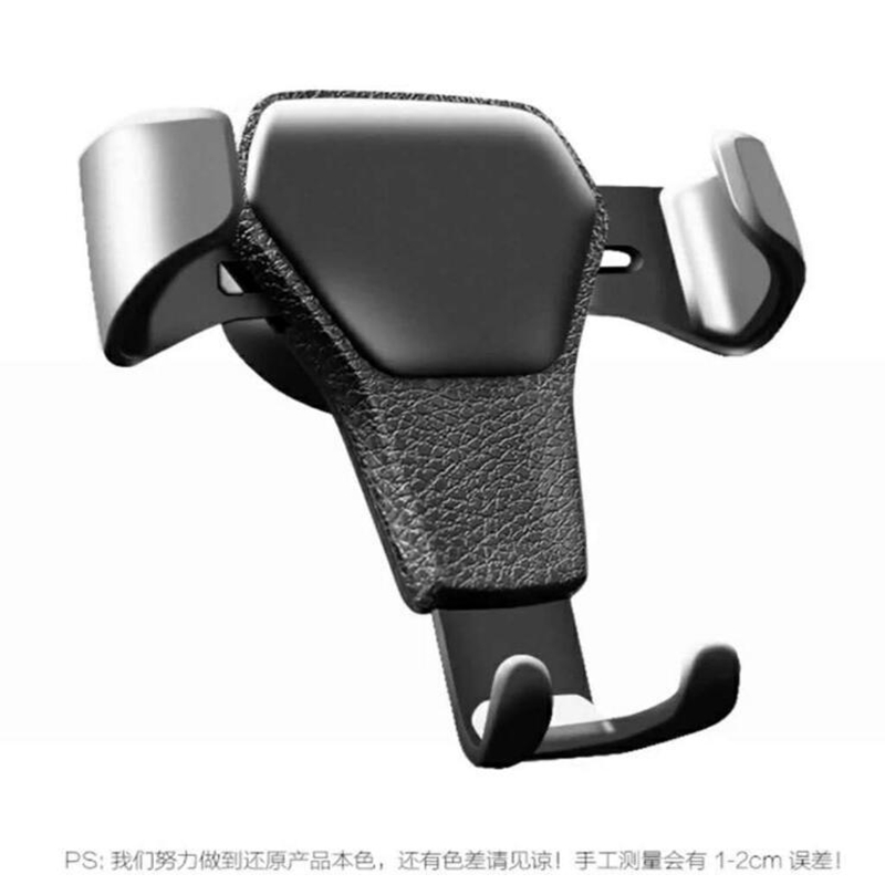 Car Phone Holder For Phone In Car Air Vent Mount Stand Imitation Leather Mobile Phone Holder Universal Gravity Smartphone Cell