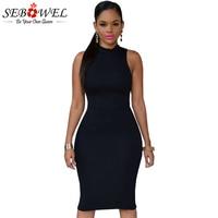 SEBOWEL 2017 High Quality Summer Dress One Shoulder Ruffle Sleeve Bodycon Midi Dress Elegant Short Party