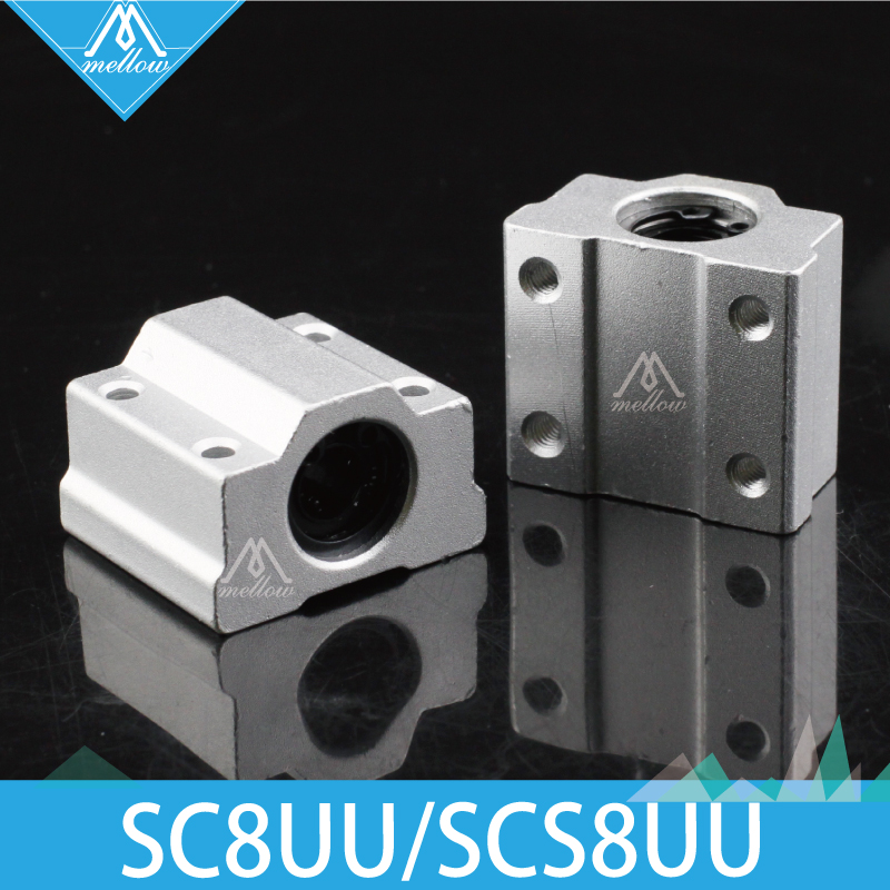 Free Shipping <font><b>4pcs</b></font>/lot 3D printer <font><b>SC8UU</b></font> SCS8UU 8mm Linear Motion Ball Bearing block with LM8UU bush Slide Linear Shaft for CNC image
