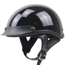 Della novità di Stile casco del motociclo DEL PUNTINO mezzo del fronte del casco Nero opaco nero disponibile casco da moto