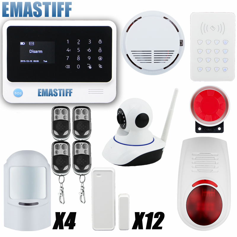 WiFi Alarme Maison Wireless GSM Home Security Alarm System IOS Android Control With wifi IP Camera wifi alarme maison wireless gsm home security alarm system ios android control with ip camera
