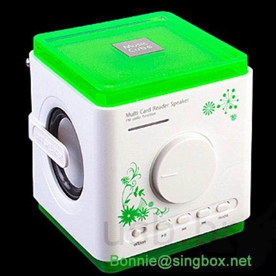 Free shipping computer speaker,MP3/MP4 speaker with LCD display and alarm recording function