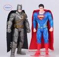 """2 Стиля 7 """"18 СМ DC Comics Лига Справедливости Супергерой Супермен Бэтмен ПВХ Фигурку Коллекционная Модель Игрушки"""