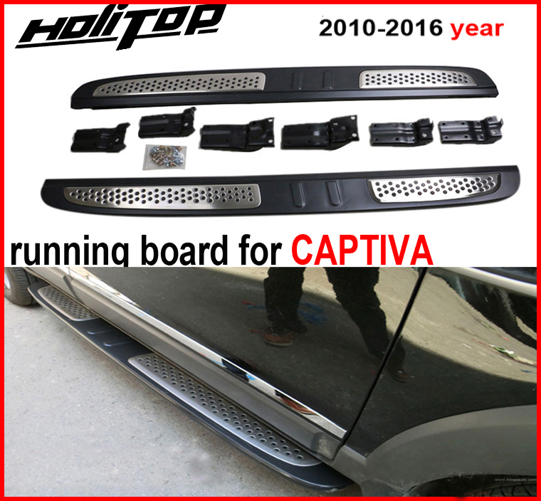hot nerf bar running board nerf bar side step for Chevrolet Captiva 2008 2019, guarantee excellentquality, promotion price