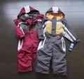 Зимние Комбинезон дети одежда для мальчиков открытый водонепроницаемый пальто маленьких детей лыжный костюм девушки в целом ветрозащитный комбинезон хлопка мягкий