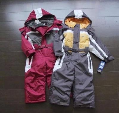 Invierno de Los Mamelucos niños ropa boy impermeable al aire libre escudo niños pequeños niñas traje de esquí en general a prueba de viento de algodón acolchado