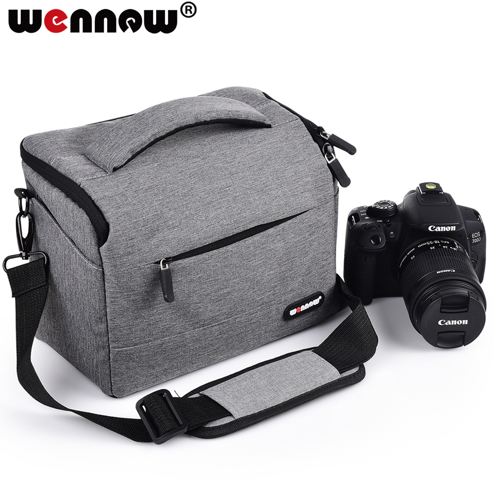 wennew Coffee gray Photo Cover DSLR Waterproof Camera Bag SLR Case for Nikon Z7 Z6 D3500 D5600 D5500 D5300 D5200 D5100 D5000 image