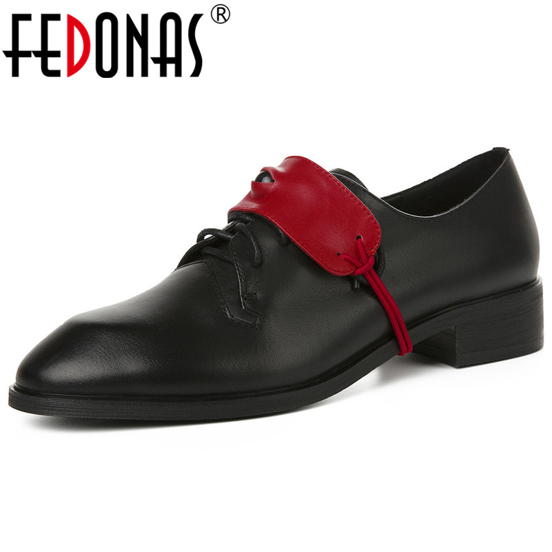 FEDONAS Spring Autumn Women Genuine Leather Pumps With Round Toes 2020 Classic Casual Shoes Woman Basic