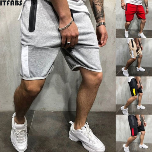 New Men's Fashion Urban Straight Pants Casual Jogging Five Points Sweatpants