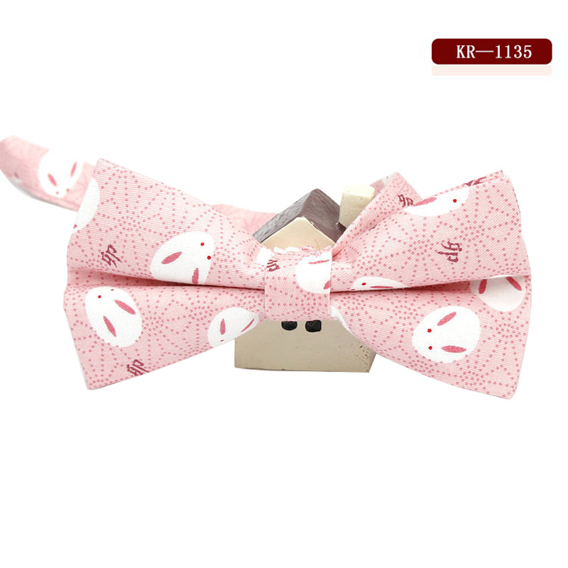 Men Groom Bow Tie Necktie Vintage Printing For Wedding Business Suit Party Best Man -MX8