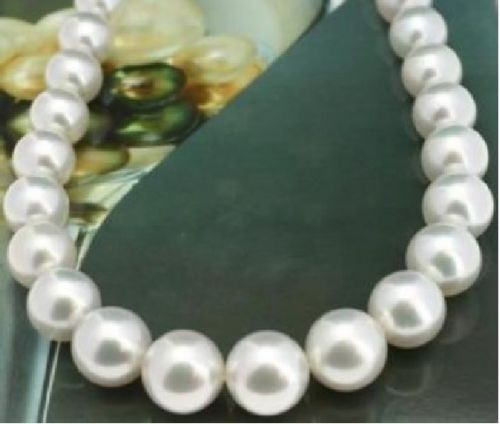Beautiful NEW elegant natural 10-11MM SOUTH SEAS white PEARL NECKLACE 18inch Yellow ClaspBeautiful NEW elegant natural 10-11MM SOUTH SEAS white PEARL NECKLACE 18inch Yellow Clasp