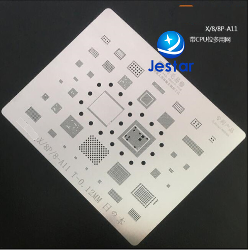 2pcs For Iphone 8 8p x ic chip BGA Stencil BGA Direct Heating Template 0.12mm Thickness, good quality not easily deformed