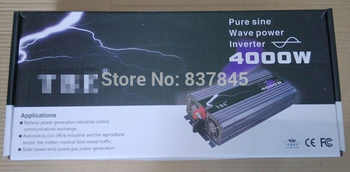 4000W Power Inverter Pure Sine Wave 12V/24V/48V DC to 110V/220V AC Car Converter inverters Adapter With Retail Package