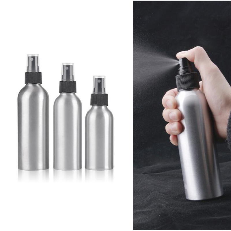 30ml/50ml/100ml/120ml/150ml Aluminum Spray Bottle Portable Mini Perfume Bottles Empty Refillable Cosmetic Sprayer Atomizer
