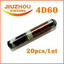 20 PÇS/LOTE Car Key ID:4D60 60 4D60 Chips De Vidro id 4d Chip Transponder da chave do carro transponder chip de Alta Qualidade 100% Original