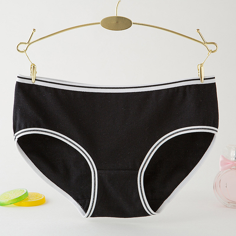 Fashion Soild Color Women's Cotton Panties Breathable Hot Sale Sexy Ladies Underwear Briefs Soft Lingerie Intimates