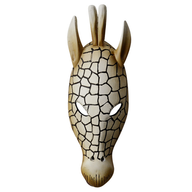 Three Dimensional African Animal Head Mask Wall Hanging Deer Decoration Bar Club Cafe