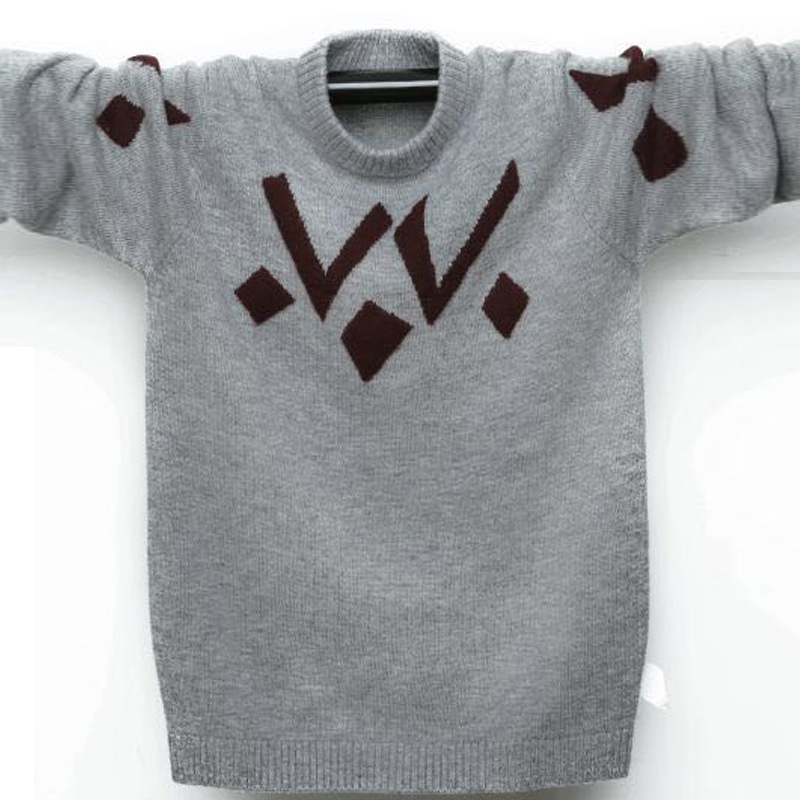 Winter Teenager Wool Sweaters Kids Pullover Cashmere Sweater Warm Children's Sweater Pullover Boys Girls Sweaters 100-180 cm