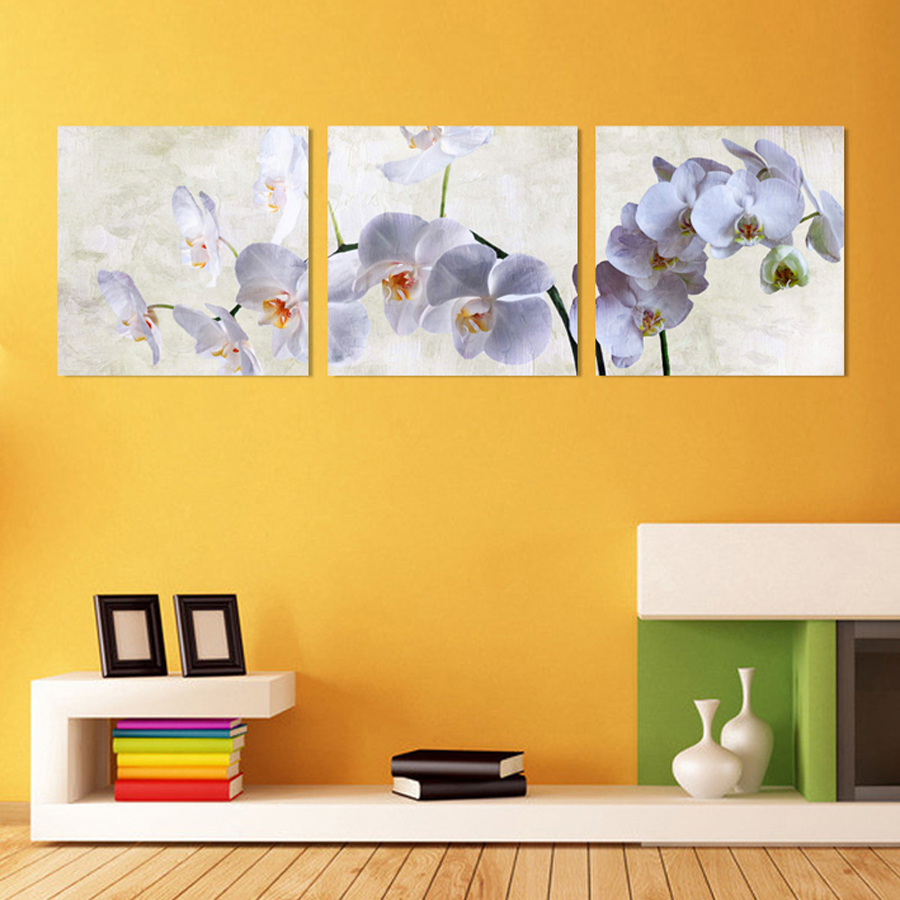 3 Piece Canvas Wall Art Modern Flowers Canvas Paintings Dinning Room Decorative Pictures HD Prints With Framed F-179