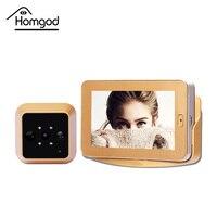 4.3 Calowy Ekran Dotykowy HD Video Recording Inteligentny Wizjer Aparatu Drzwi Bezprzewodowy Czujnik Ruchu PIR Inteligentne Drzwi Wizjer Kamery Wideo