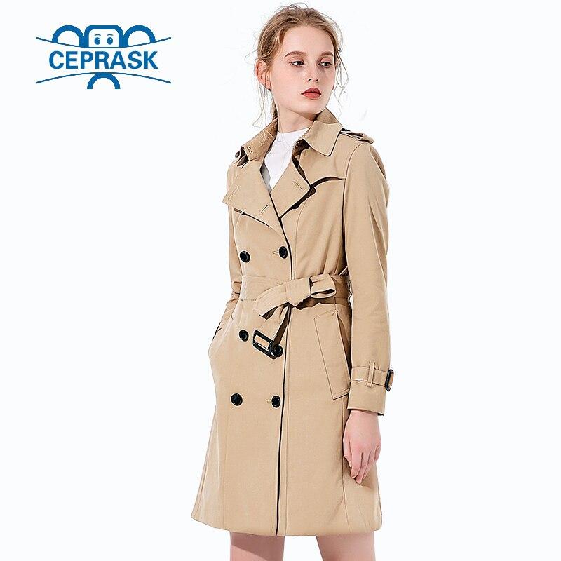 2018 vente Chaude Printemps Automne Marque Casual Tranchée manteau pour les femmes  Plus La Taille Long Double Breasted Europe Coupe Vent Survêtement ... 6b84573eed3