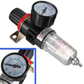 Black Pneumatic Air Source Treatment Filter Regulator w Pressure Gauge AFR-2000 Compressors