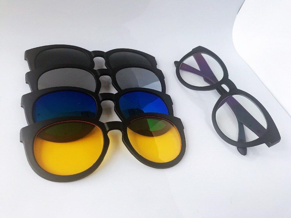 09f220c9a5 Gafas de sol con estilo de visión mágica con lentes de imán de cambio  rápido 5 colores diferentes en Favores de partido de Hogar y Jardín en  AliExpress.com ...
