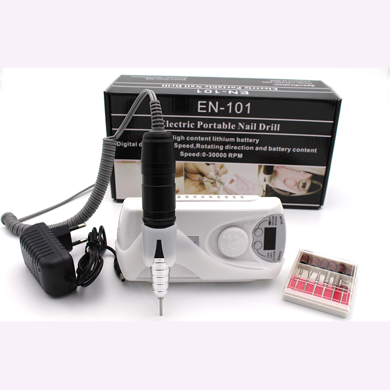 Rechargeable 20w 30000rpm Electric Nail Drill Machine Acrylic File Manicure Pedicure Kit Set Art Equipment In Drills