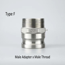 "1/2"" , 3/4"", 1""    Type F  Quick  Camlock Coupling Adapter SS304 Stainless Steel Connector For Pump Hose"