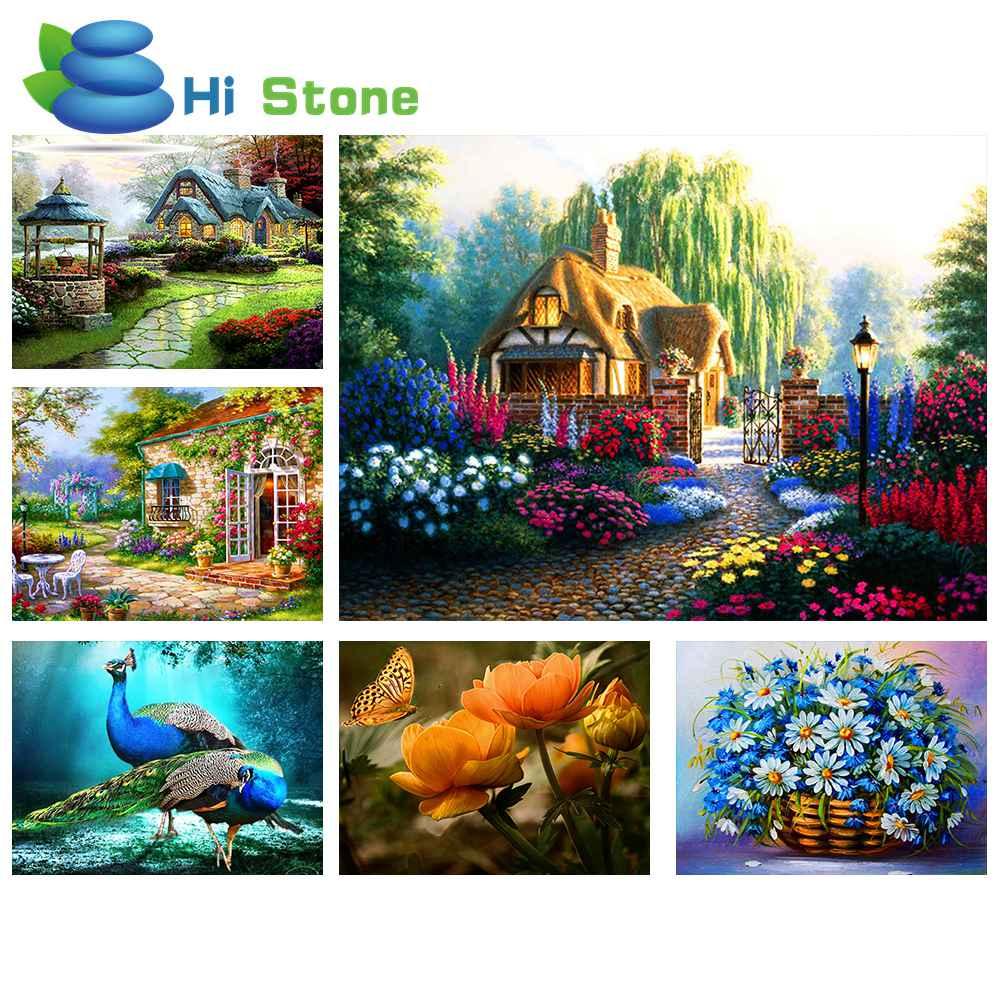 3D DIAMOND Вышивка пейзаж Dream House DIY алмаз живопись полный мозаика ремесел подарки ромба Картины Стразы