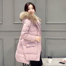 2017 winter new women in the long paragraph hair collar A cape cotton large size cotton jacket